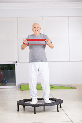 Health Bounce Rebounder for elder man